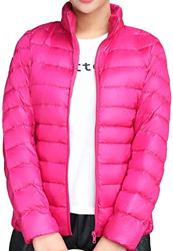 Mochoose Women s Ultra Light Weight Outdoor Packable Coat Outwear Puffer Down Jacket Rose Red product image
