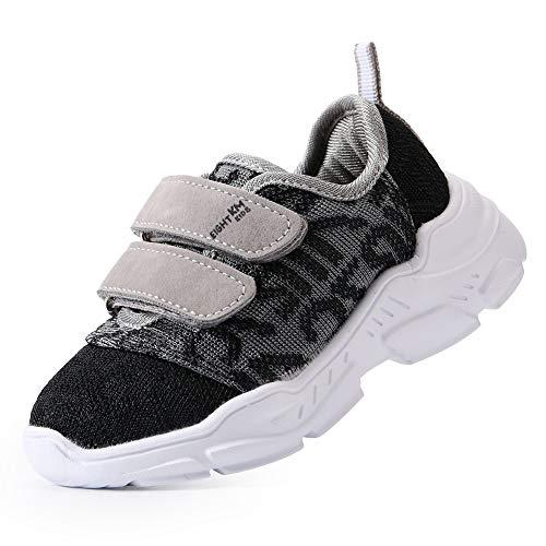 EIGHT KM Niños pequeños/niños pequeños Niñas Niños Zapatos Zapatillas Deportivas Ligeras EKM7029 Gris Oscuro/Negro Talla 30