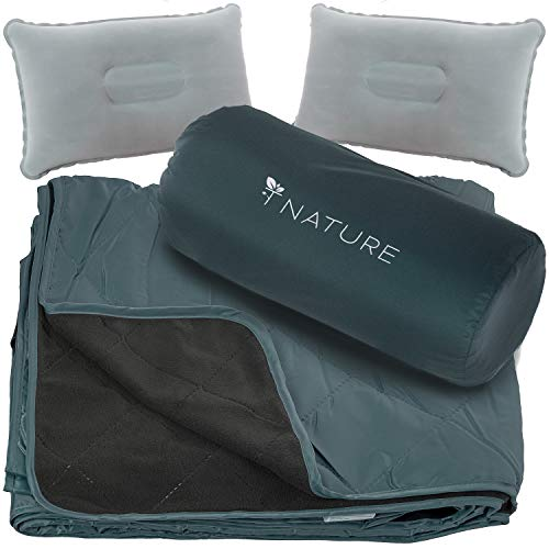 T Nature Waterproof Blanket Perfect for Camping Picnic Stadium Beach Hiking Travel Field Beach Boats Festival. Made Water Resistance for Indoor and...