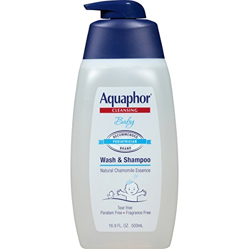 Aquaphor Baby Wash and Shampoo - Mild, Tear-free 2-in-1 Solution for Baby's Sensitive Skin - 16.9 fl. oz. Pump
