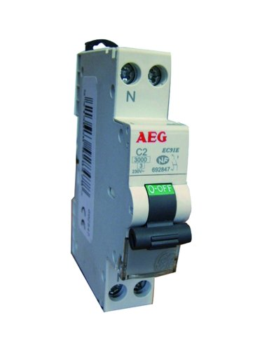 AEG AUN692851 Disjoncteur Phase + Neutre 16 A