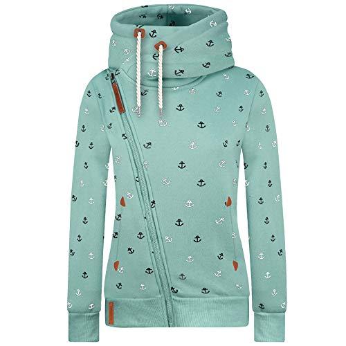 Newbestyle Jacke Damen Sweatjacke Vicky Zip Hoodie Pulli Oberteile Damen Kapuzenpullover Pullover mit Kapuze und Kordel