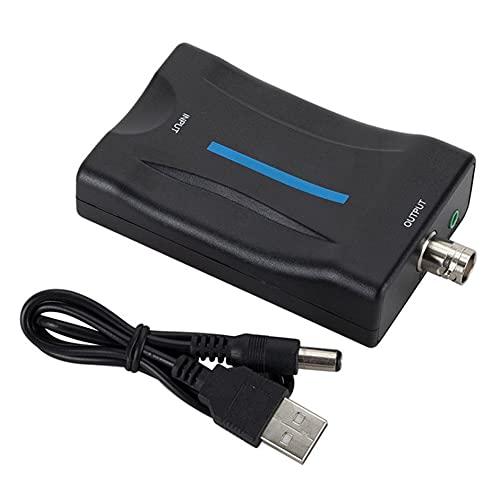 SENZHILINLIGHT Convertidor puede convertir la señal digital compatible con HDMI a Bnc Composite Video Signal Converter Adaptador Vhs Reproductor de DVD Pal Ntsc
