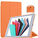 DuraSafe Cases For iPad Air 1st Gen 2013 - 9.7 MD785LL/A MD788LL/A MD786LL/A MD789LL/A MD787LL/A MD790LL/A MD898LL/A ME906LL/A Ultra Slim Cover with Auto Sleep/Wake function - Orange
