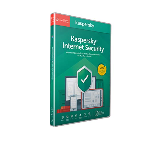 Kaspersky Internet Security 2021 | 3 Devices | 1 Year | Antivirus and Secure VPN Included | PC/Mac/Android | Activation Code by Post