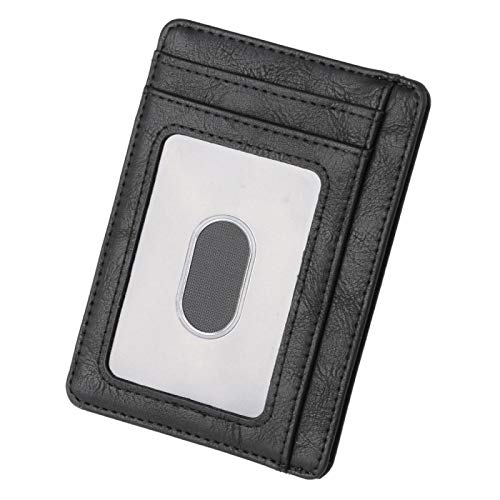 Liuying Hombres Cartera RFID Bloqueo de Cuero Cartera de la Tarjeta de Crédito Titular de la Cartera Cartera 2020 Moda Bolsa 11.5x8x0.5cm