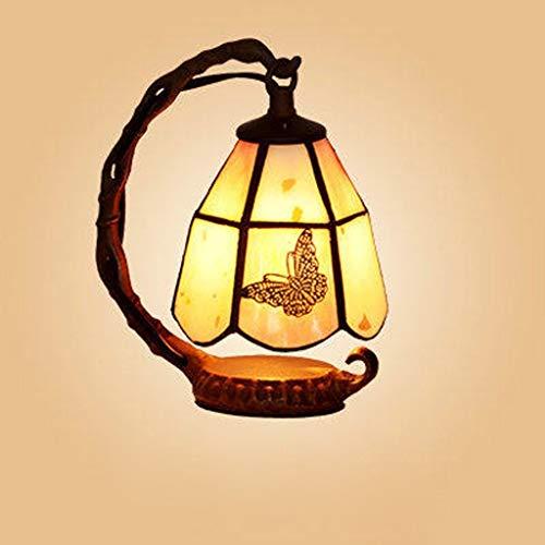 IGOSAIT Lámparas de mesa, personalidad simple Continental hierro llevó la lámpara de escritorio, lámpara de cabecera del dormitorio, luz de la noche de lectura Hogar/Oficina/Dormitorio