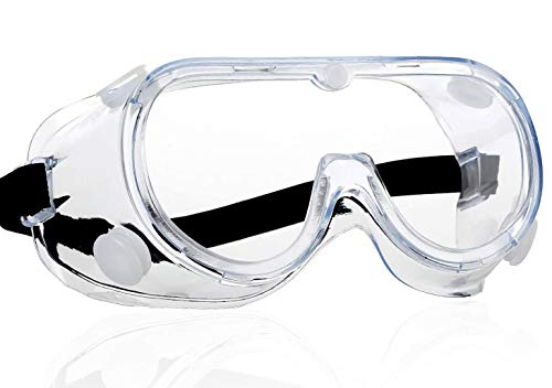 Protective Goggles Safety Glasses Impact Goggle Clear Anti-Fog Spectacles for Eye Protection Soft frame Eyewear