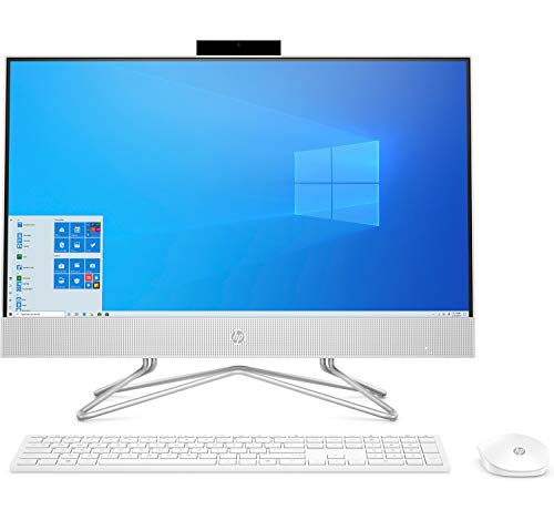 HP 24-DF0044ns - Computer da tavolo All-in-One 23.8 Full HD (Intel Core i5-10400T, 8 GB RAM, 512 GB SSD, Intel UHD, Windows 10 Home 64) Bianco neve