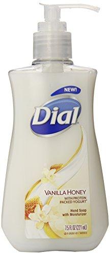 Dial Liquid Hand Soap, Vanilla Honey with Protein Packed Yogurt, 7.5 Fluid Ounces
