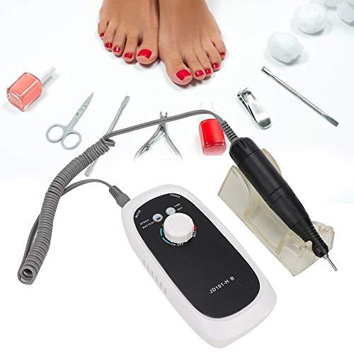 Slijpstift met 30.000 omw/min, elektrische nagelboormachine met 35 W, 4 polijstkoppen, geluidsarm, snelheid en richting, verstelbaar, voor het polijsten van nagels, manicure en pedicure 01