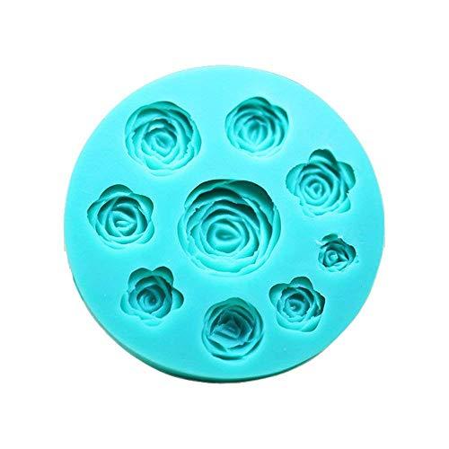 Moldes 3D diseño de rosas de silicona para usar con chocolate, fondant, jabón o velas
