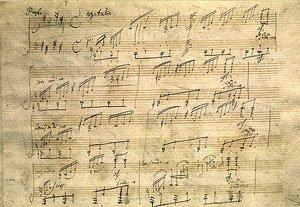 Beethoven: Mondscheinsonate (op. 27 no. 2). Faksimile