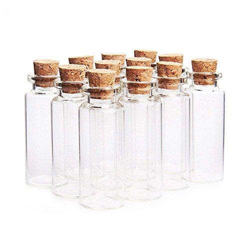 Danmu Art Lot de 12 mini flacons en verre de 15 mL avec bouchon en liège