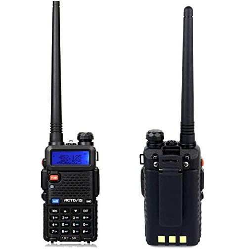 Retevis RT-5R Dual Band Two Way Radio, Long Range Walkie Talkies 128CH 155 Privacy Codes UHF/VHF Police Radios, FM… 5