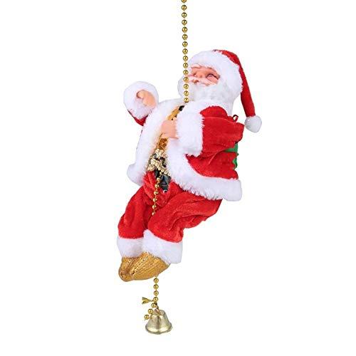 FANDE Christmas Climbing Santa, Papá Noel Escalando Cuerda, Escalera eléctrica de Escalada...