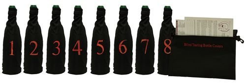 Professional Model, Blind Wine Tasting Kit with Pouch, 8 Numbers