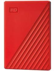 WD ポータブルHDD 2TB USB3.0 レッド My Passport 暗号化 パスワード保護 外付けハードディスク / 3年保証 WDBYVG0020BRD-WESN