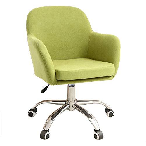 Bürostuhl, höhenverstellbar, ergonomischer Computer-Schreibtischstuhl, 360° Drehstuhl, Arbeitsstuhl für Zuhause, Arbeitszimmer, Büro, gepolsterter Empfangsstuhl, Grün