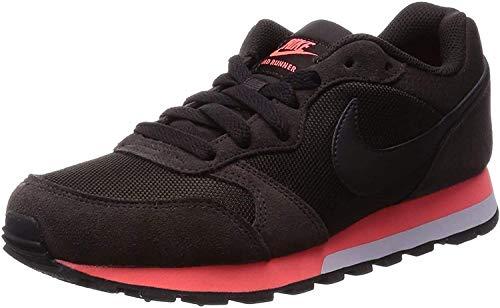 Nike Damen WMNS Md Runner 2 Laufschuhe, Mehrfarbig (Velvet Brown/Velvet Brown/Hot Lava 228), 36.5 EU