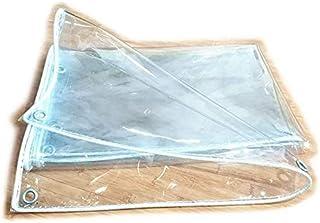 GWFVA Transparent Tarpaulin, with Grommets Outdoor Dual-Sided Versatile Waterproof Tarp - 450G/Msup2,1.4X1.8M