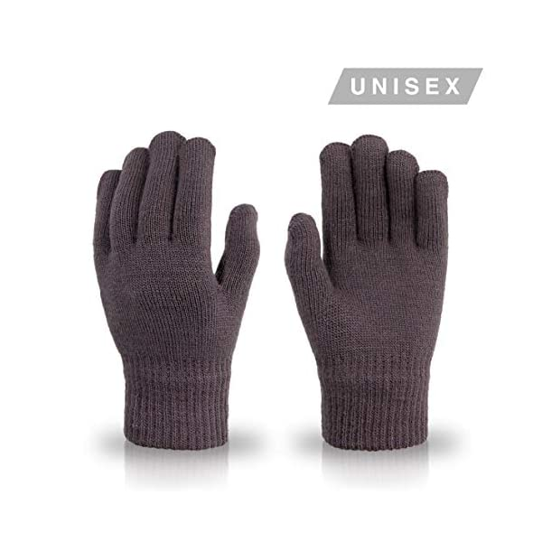 High Desert Gear Knit Magic Gloves One-Size Adults Teens Colored Assortement 12 Pairs (Assorted 2)