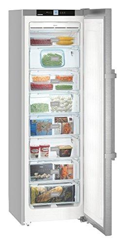Congelador vertical - Liebherr SGNef 3036, Capacidad total 268 L, A++, 8 cajones, Inox