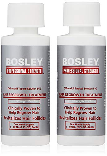 Bosley Professional Strength Men's Hair Re-growth Treatment, 2 Count