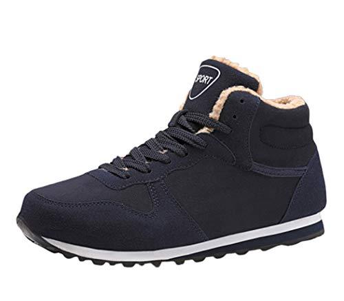 AZLLYMens schoenen pluizig gevoerde warme enkel laarzen anti-slip lichtgewicht casual hardlopen Sneakers voor de winter outdoor camping Trekking