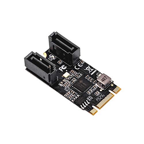 IO Crest M.2 22 x 42 auf SATA III 2 Ports Adapter Karte (JMicro-Chipsatz), fügen Sie Zwei SATA 3.0 Geräte zu jedem M.2 2242 Slot hinzu.