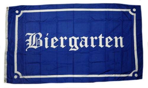 Flagge Fahne Biergarten 90 x 150 cm