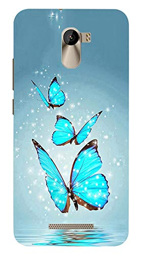 Fasheen Printed Back Case Cover for Karbonn Titanium Jumbo, Flexible Soft Silicone Rubber TPU, Print: Blue Turquise