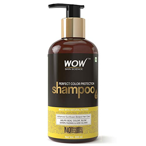 WOW Skin Science Perfect Color Protection Shampoo - No Parabens, Sulphates & Silicones, 300 ml