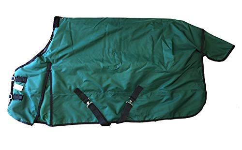1200D Heavy Weight Waterproof Horse Turnout Blanket Green