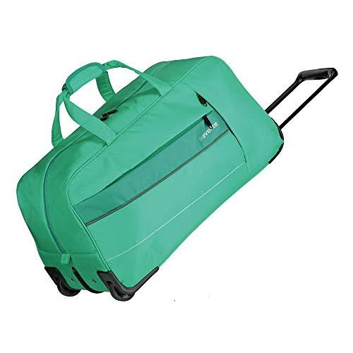 travelite Weichgepäck Reisetasche mit Rollen, Gepäck Serie KITE: Extrem leichte Trolley Reisetasche im sportlichen Design, 089901-83, 64 cm, 68 Liter, grasgrün