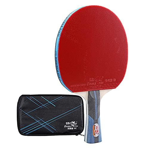 SGAIYUNRT Raquetas de Tenis de Mesa con Placa Inferior de 7 Capas, Cuchilla de Ping-Pong para Entretenimiento y Fitness/Como se muestra/mango largo