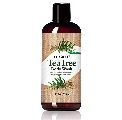 Chamuel Tea Tree Body Wash – Antibacterial & Antifungal Soap | Deep Cleans, Helps Jock Itch, Acne, Athlete's Foot, Toenail Fungus, Body Odor & More - Soothes Itching & Promotes Healthy Skin (11.8oz)