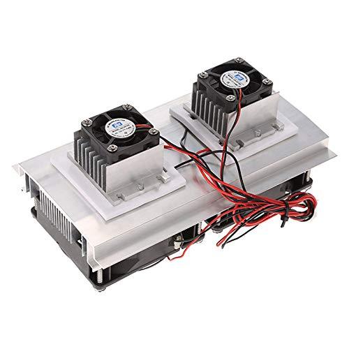 Nrpfell 200 X 115 X 8.5Mm 120W Semiconductor de Refrigeración Peltier Termoeléctrico Kit de Sistema de Enfriamiento Doble Ventilador