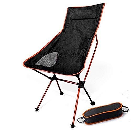 Taburete de camping portátil plegable de luna, silla de pesca, barbacoa plegable extendido, asiento de senderismo, jardín ultraligero al aire libre