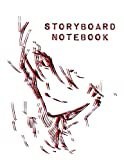 Storyboard Notebook: Japanese Anime Storyboard | Sketchbook template panel pages for Storytelling and Layouts | Pages with 3 Story Board Frames | 110 Pages