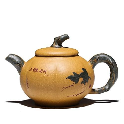 JIANGJINLAN volle handgemaakte theepot pompoen pot 220 ml met binnenwand kap theepot