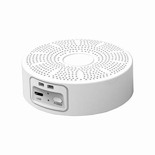 PQZATX Ozone Generator Machine USB Rechargeable 3000MAh Portable Air Purifier-White