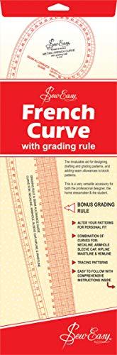Sew-Easy Kurven-Lineal, metrische Maßangaben