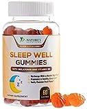 Sleep Support Melatonin Gummies Extra Strength Sleep Gummy with B6 and Passiflora - Natural Adult Sleeping Gummies - Best Vegan Non Habit Forming Sleep & Stress Support Supplement - 60 Gummies