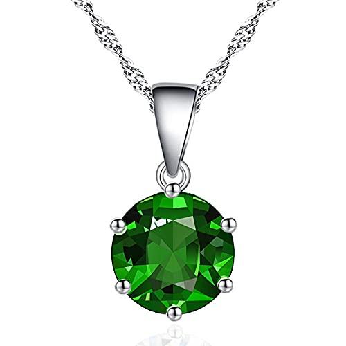 ZIYUYANG, colgante de collar, colgante de circonita multicolor, collar de flecha de corazón, joyería para mujer, exquisito regalo de cumpleaños, verde