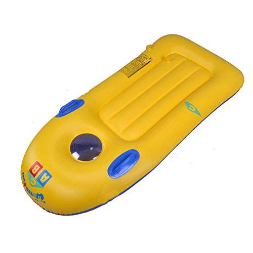 Kinderen Drijvende Rij Duurzaam Veilig Opblaasbaar Surfplank Speelgoed Met Transparant Venster, 19X58cm Opblaasbaar Zwembad Drijvend Bed Speel Water Zwemspeelgoed Voor Kinderen Van 3 Tot 6