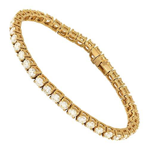 Tripod Jewelry - Trípode con diamantes de imitación de diamante de laboratorio de 1 fila CZ de 8 a 26 pulgadas, acero inoxidable chapado en oro de 18 quilates de 4 mm, 8 unidades