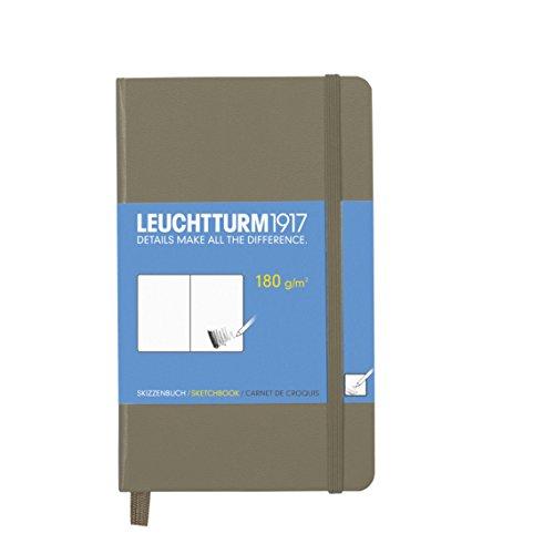 LEUCHTTURM1917 344658 Skizzenbuch Pocket (A6), Hardcover, 96 Seiten (180 g/qm), Taupe