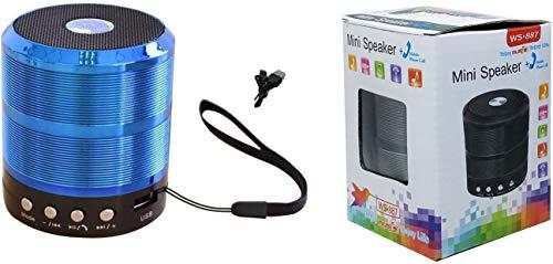 RPMSD 887 5 Watt 4.1 Channel Wireless Bluetooth Portable Speaker (Blue)
