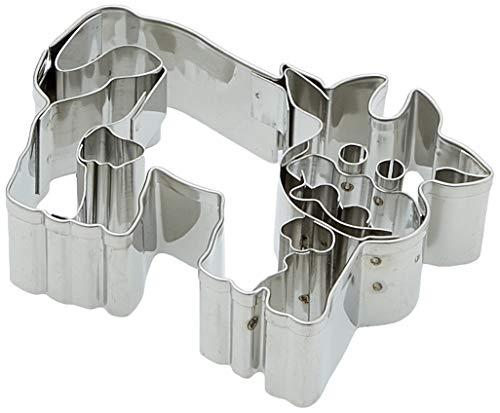 Städter Ausstechform Kuh, Edelstahl, Silber, 7 x 7 x 3 cm